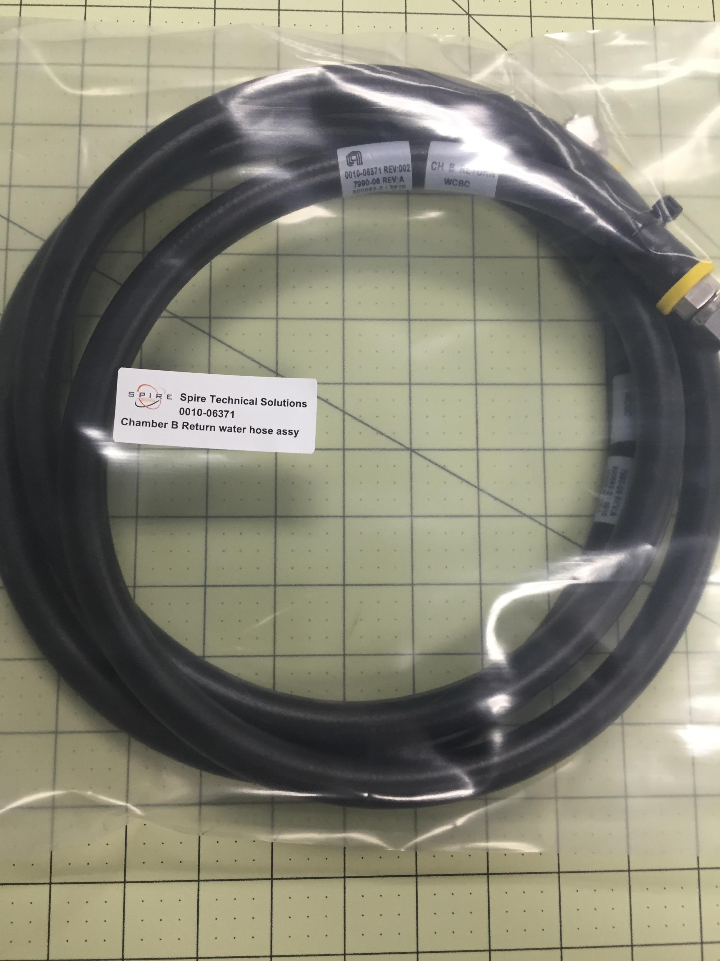 Chamber B Return WTR hose assy