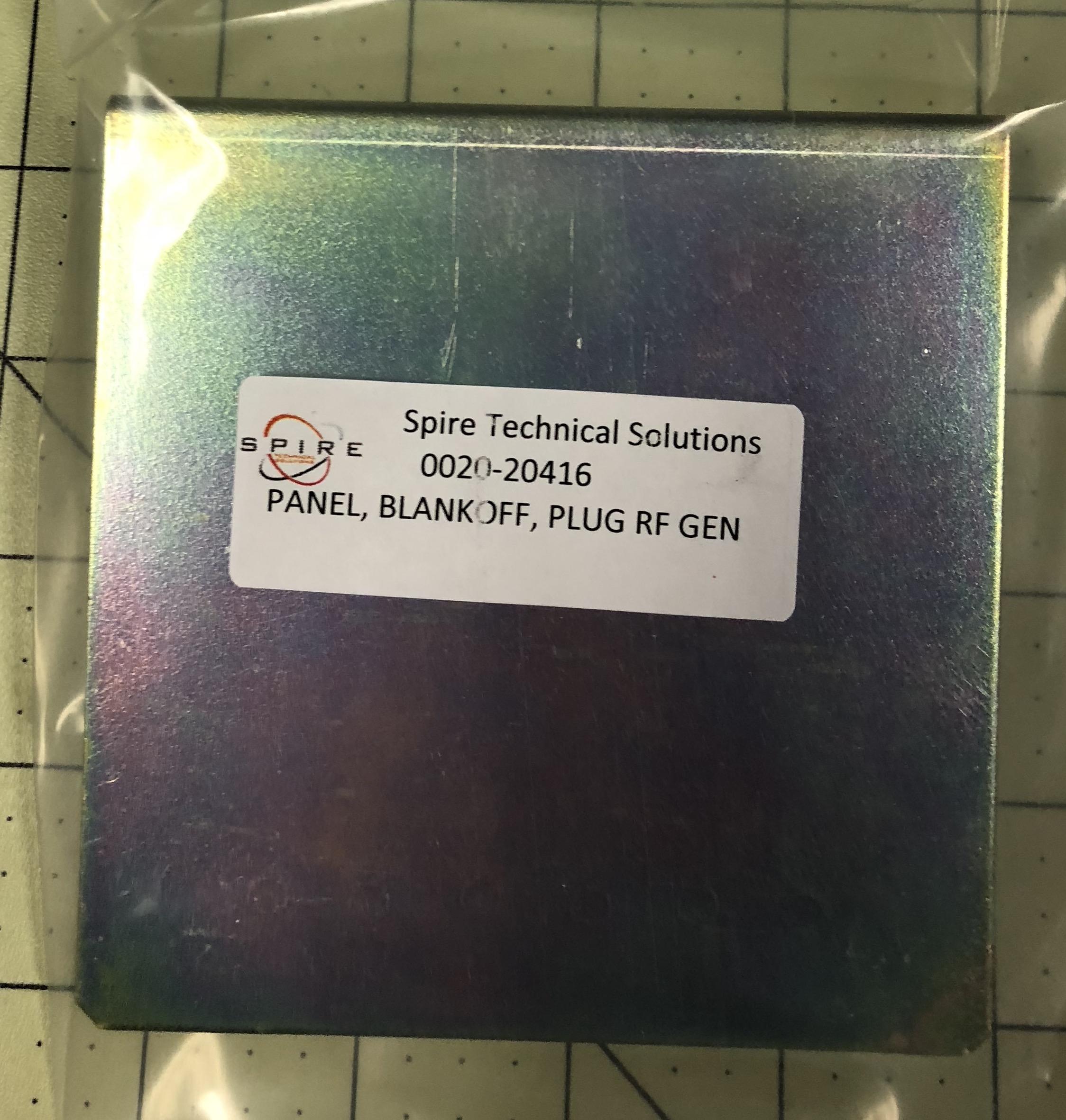 Panel, blank–off, plug, RF GEN, cabinet