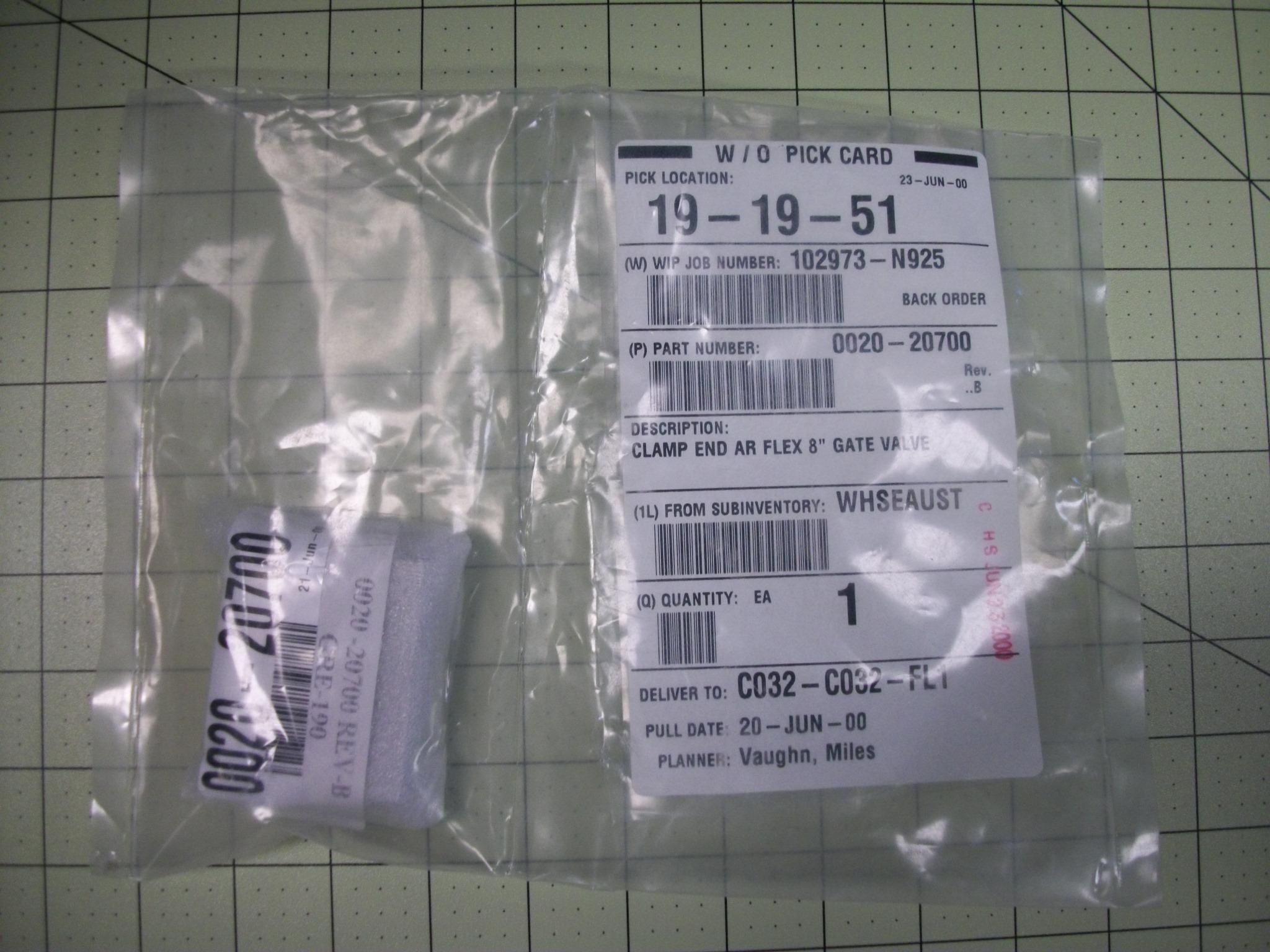 "Clamp end AR flex 8"" gate valve"