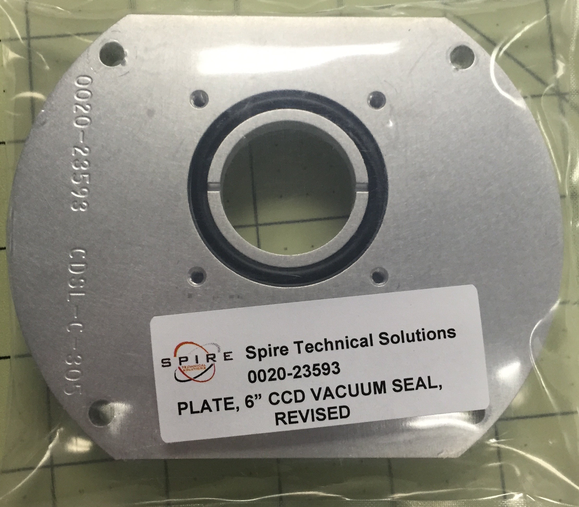 """PLATE, 6"""" CCD VACUUM SEAL, REVISED"""