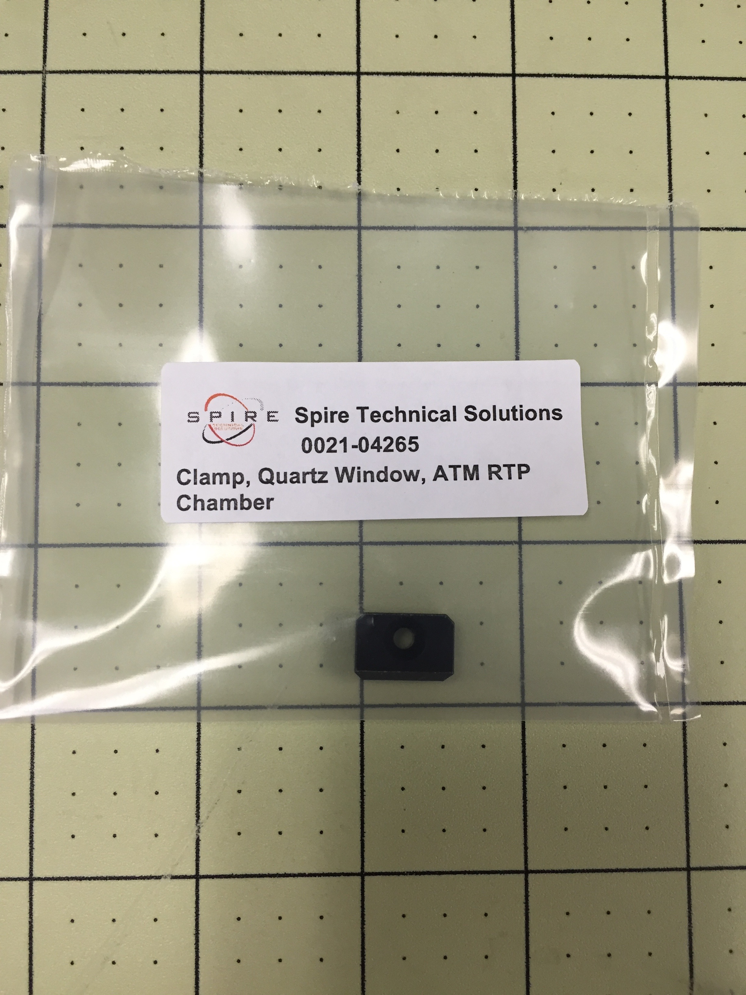 Clamp, Quartz Window, ATM RTP Chamber