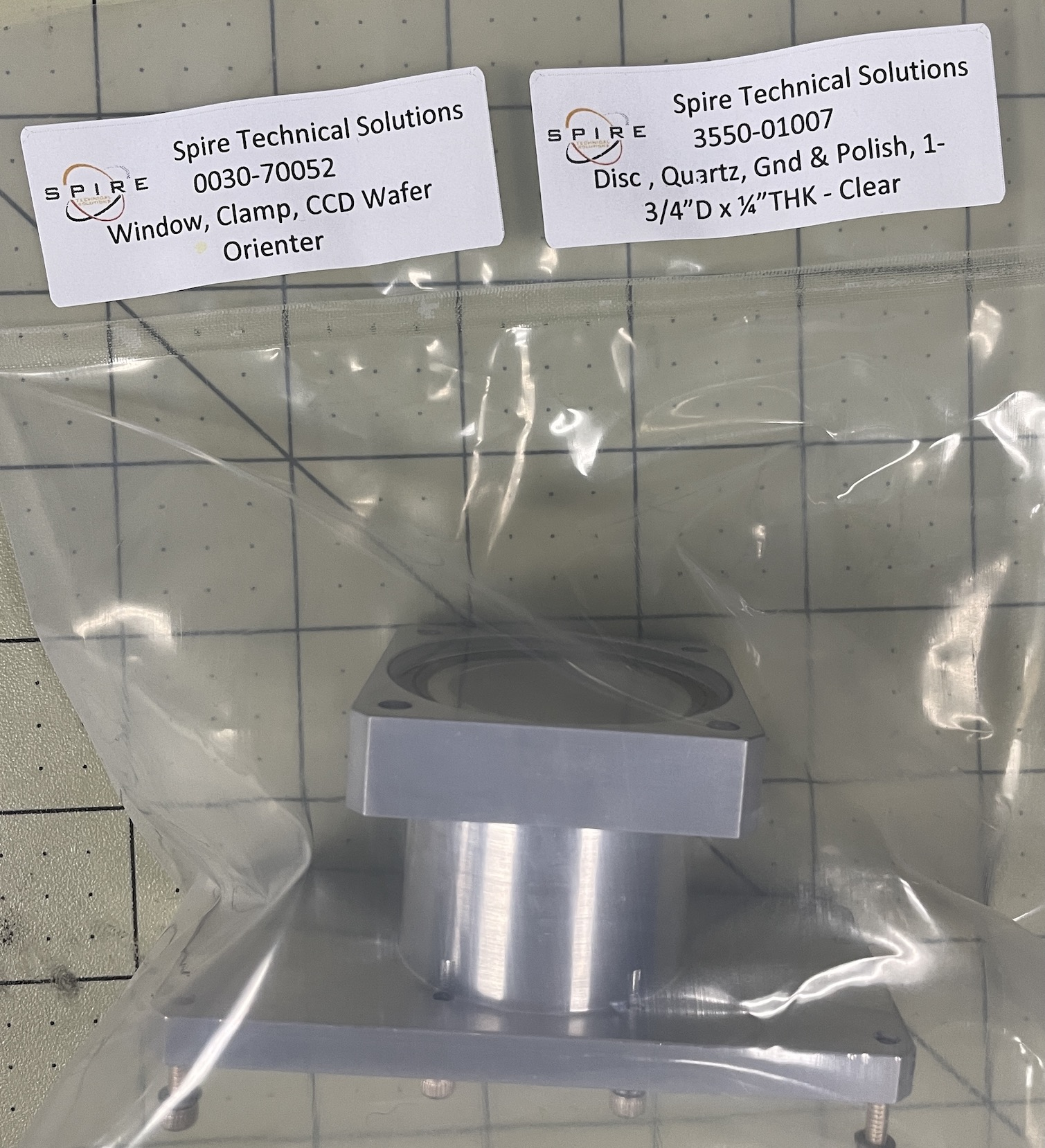 Window, Clamp, CCD Wafer Orienter