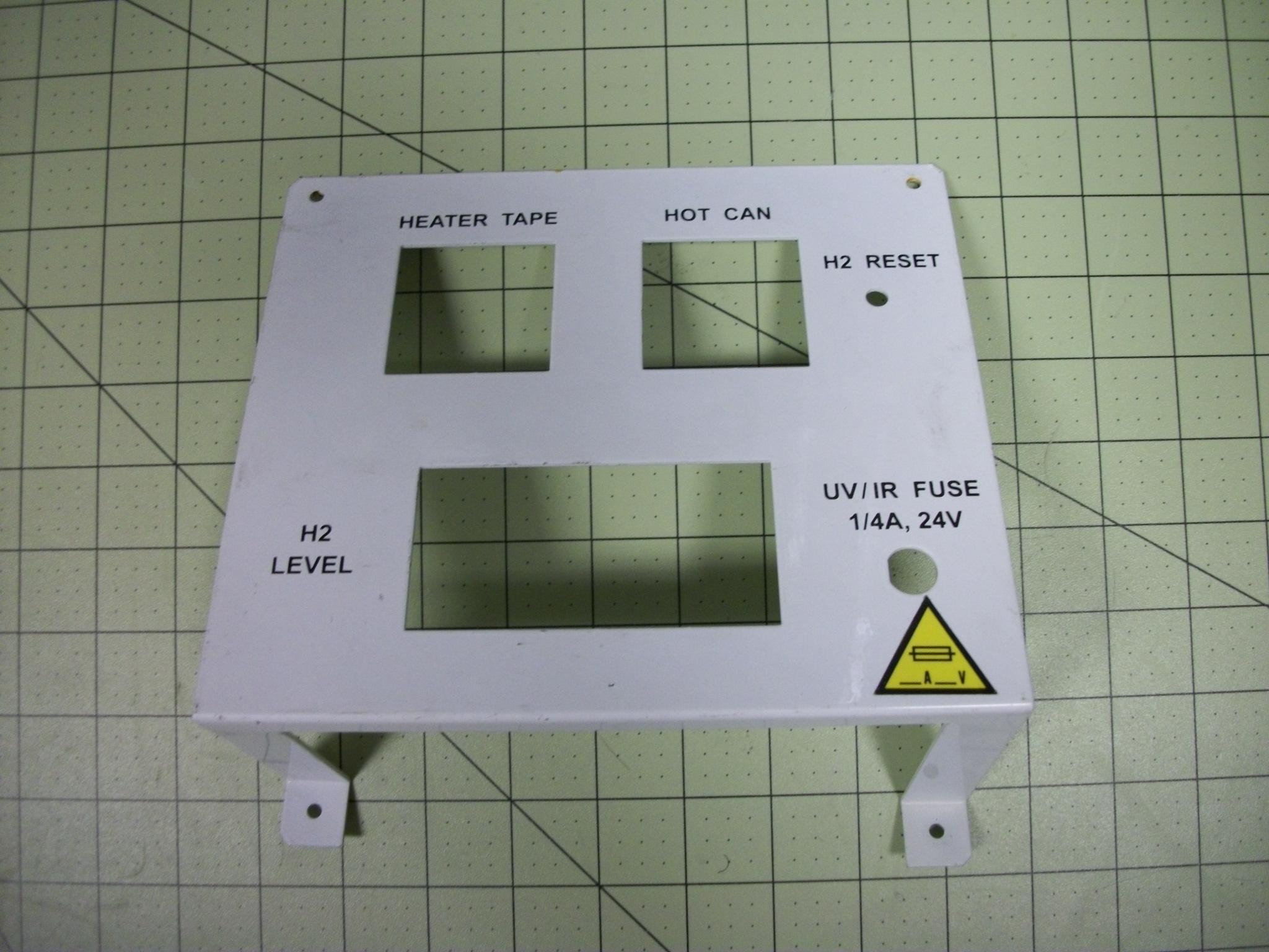 Bracket mounting, Watlow+H2 CVD gasbox