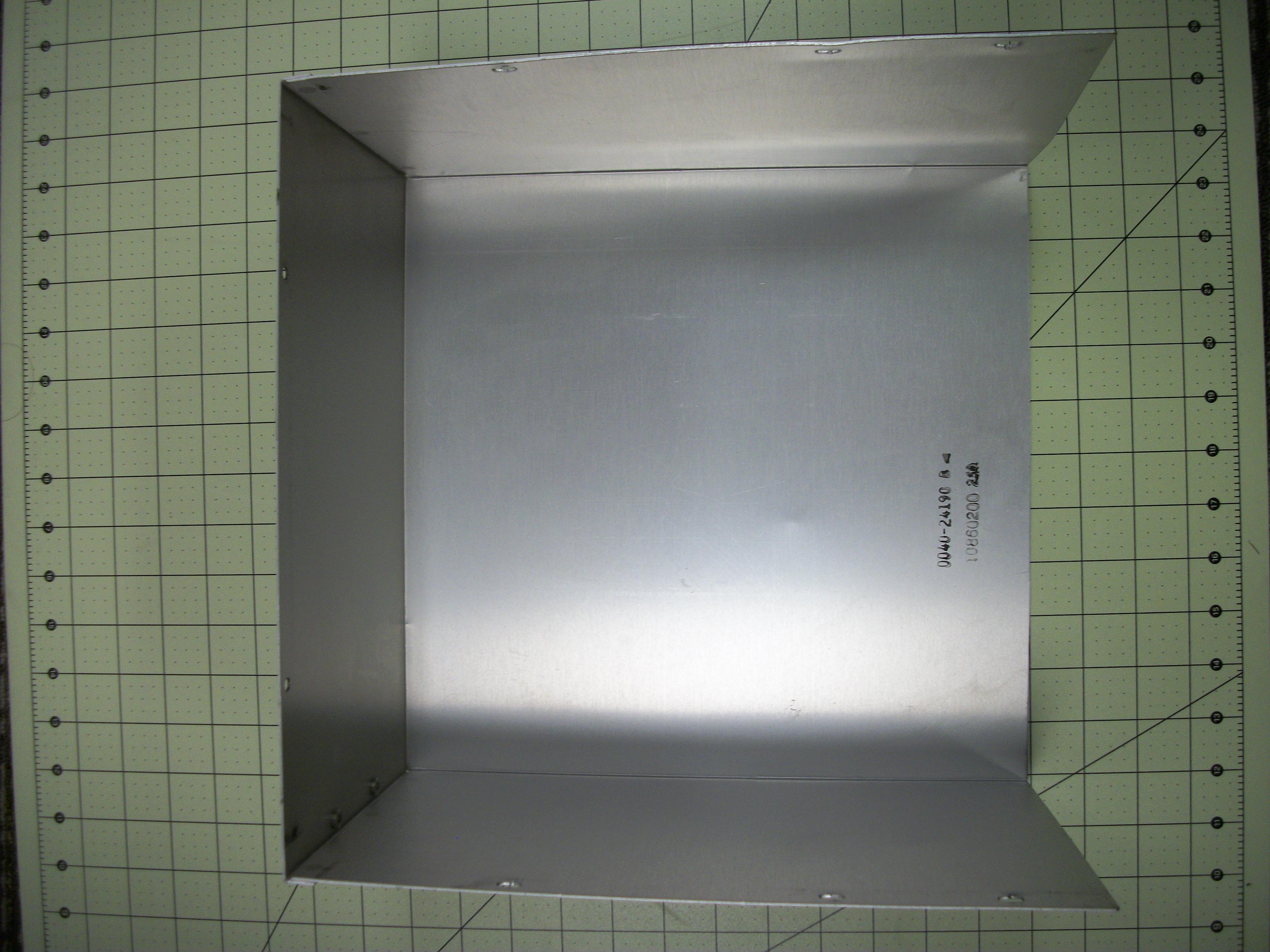 Cover full bottom chamber E, F