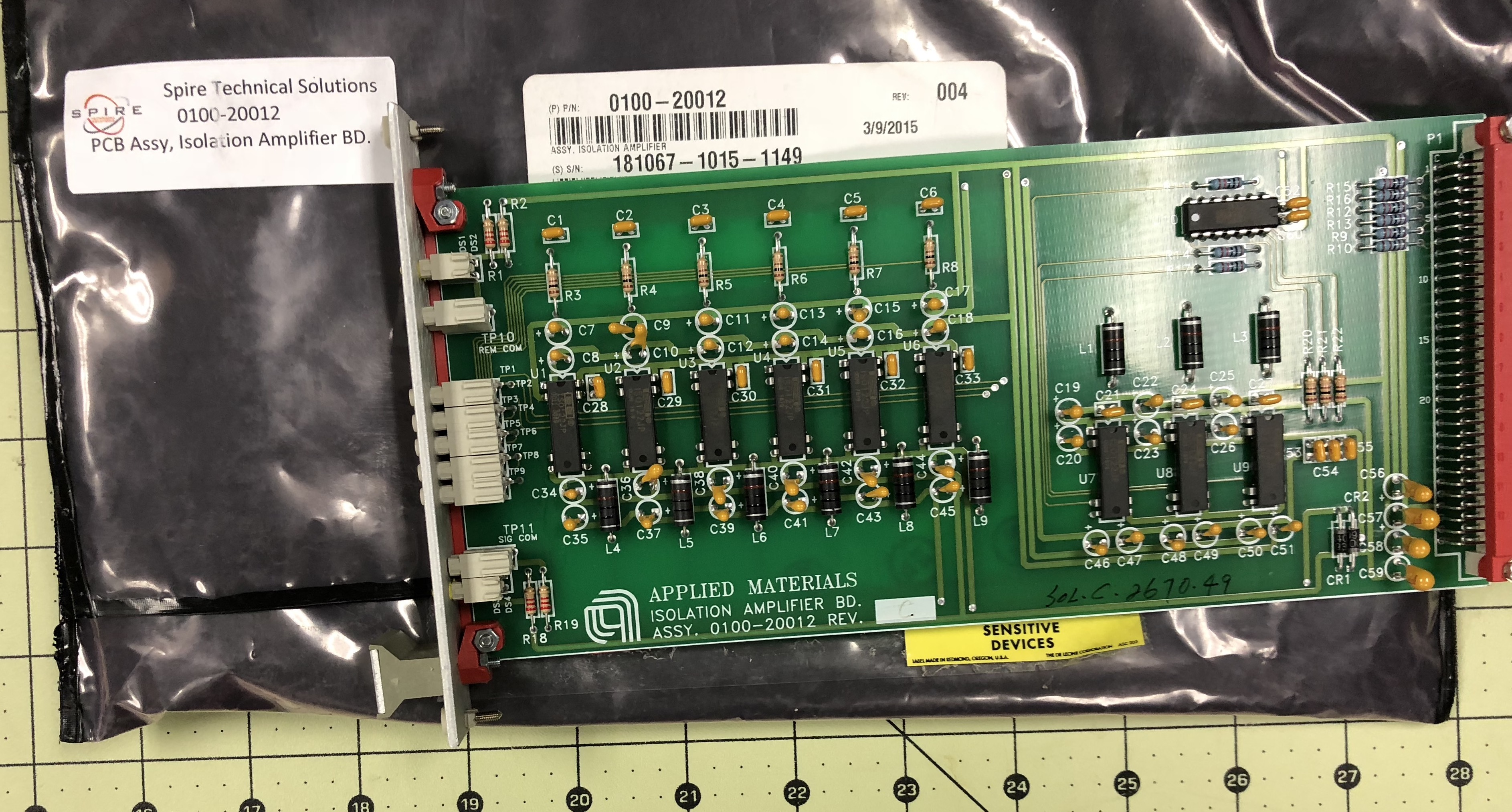PCB Assy, Isolation Amplifier