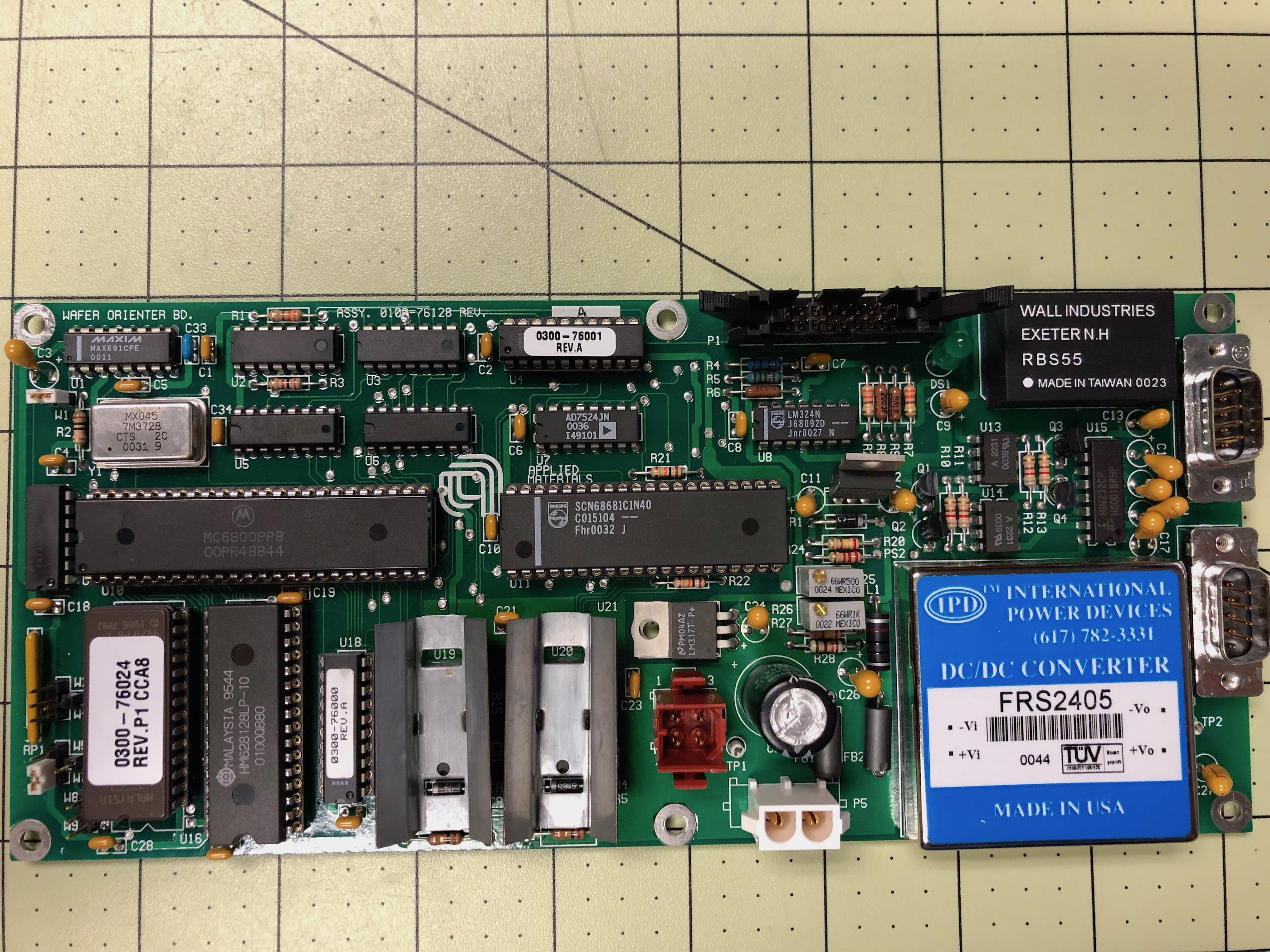 PCB Assy, wafer orienter