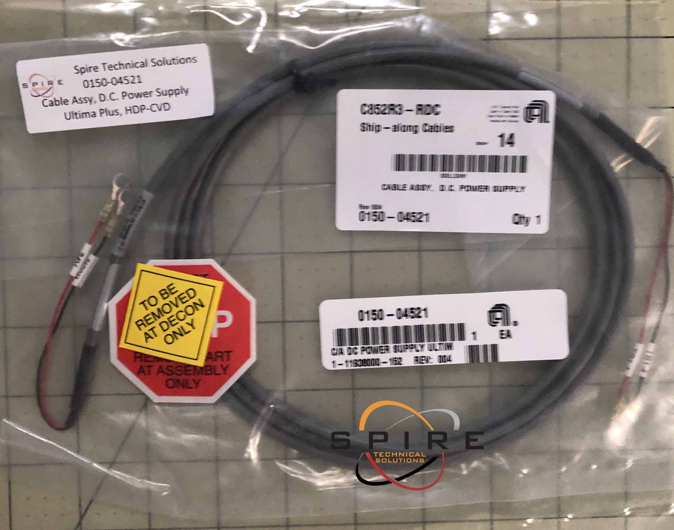 Cable Assy, D.C. Power Supply Ultima Plus, HDP-CVD