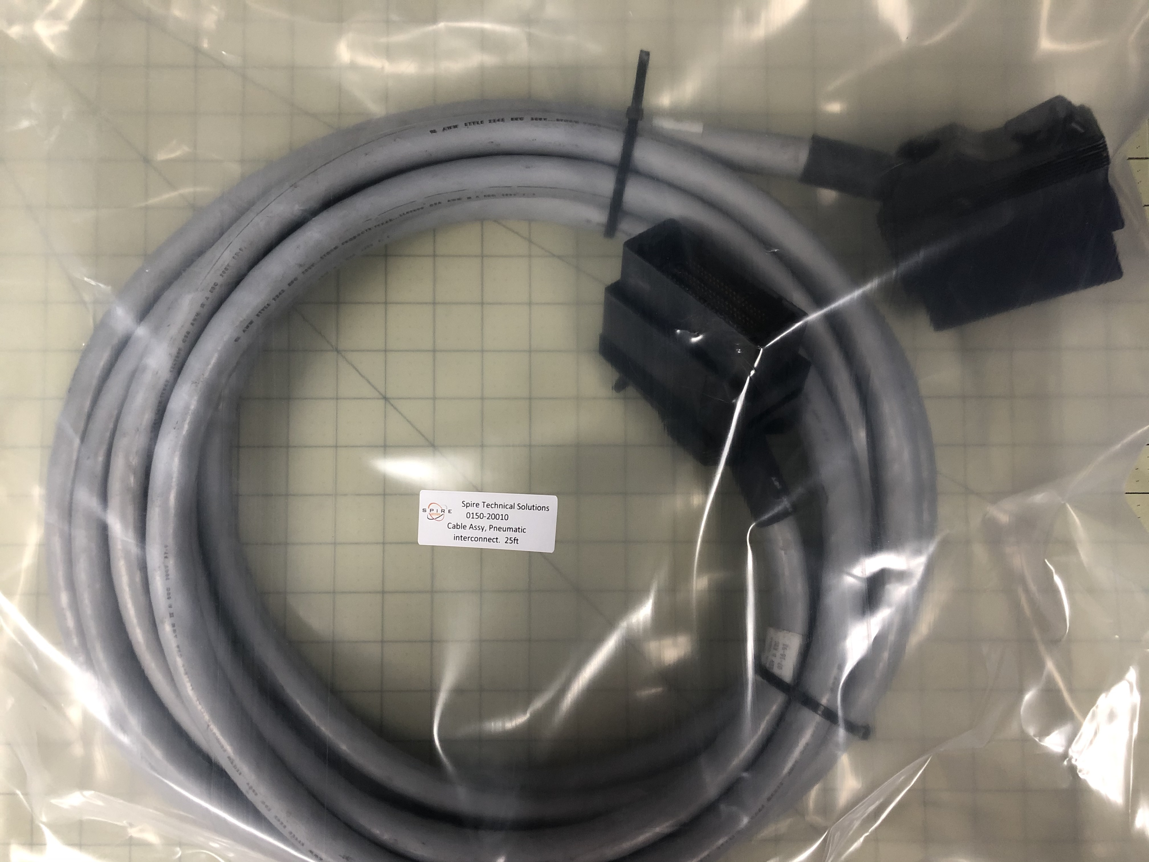 Cable Assy, Pneumatic interconnect.  25ft