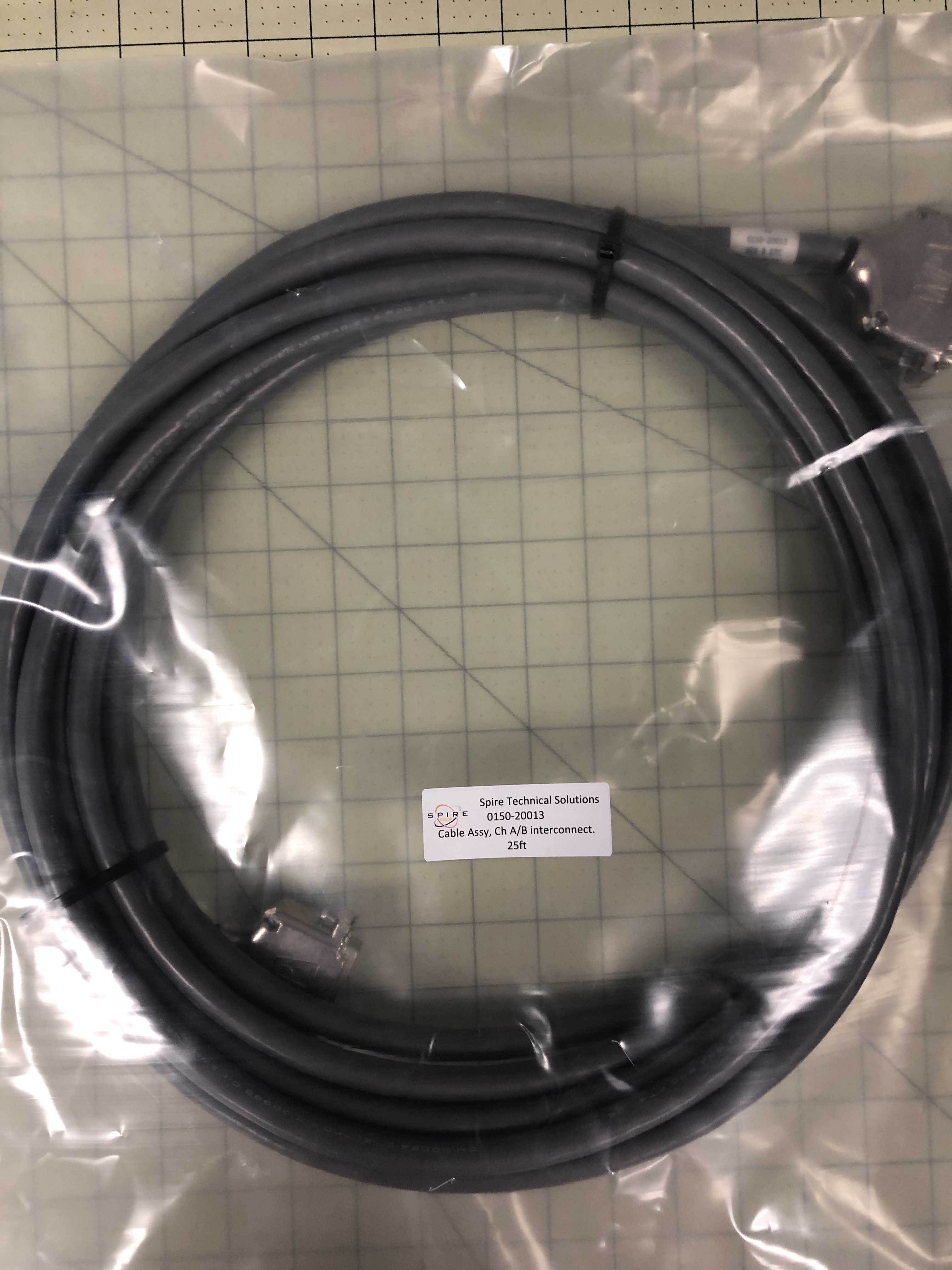 Cable Assy, Ch A/B interconnect.  25ft