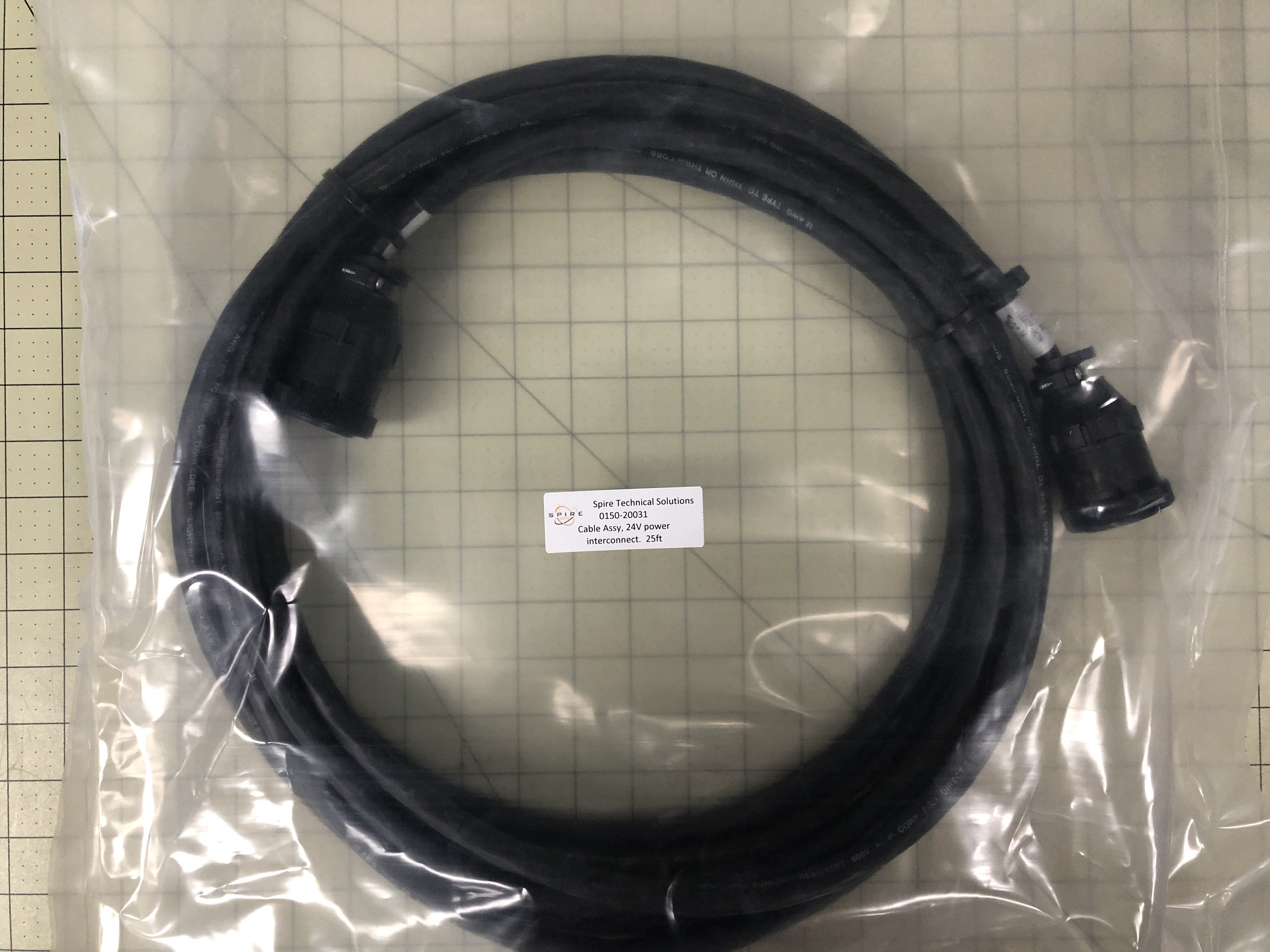 Cable Assy, 24V power interconnect.  25ft