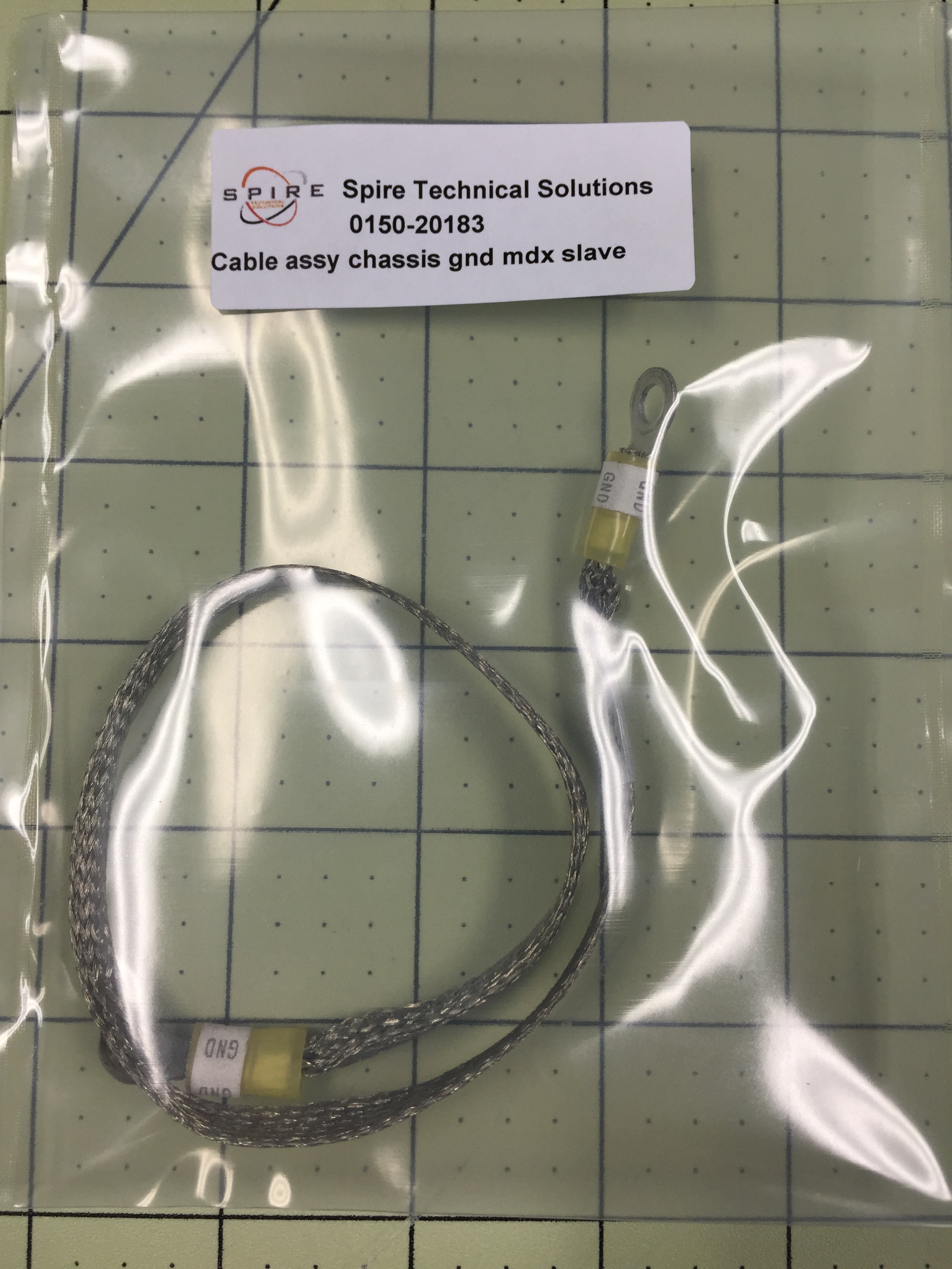 Cable assy chassis gnd mdx slave