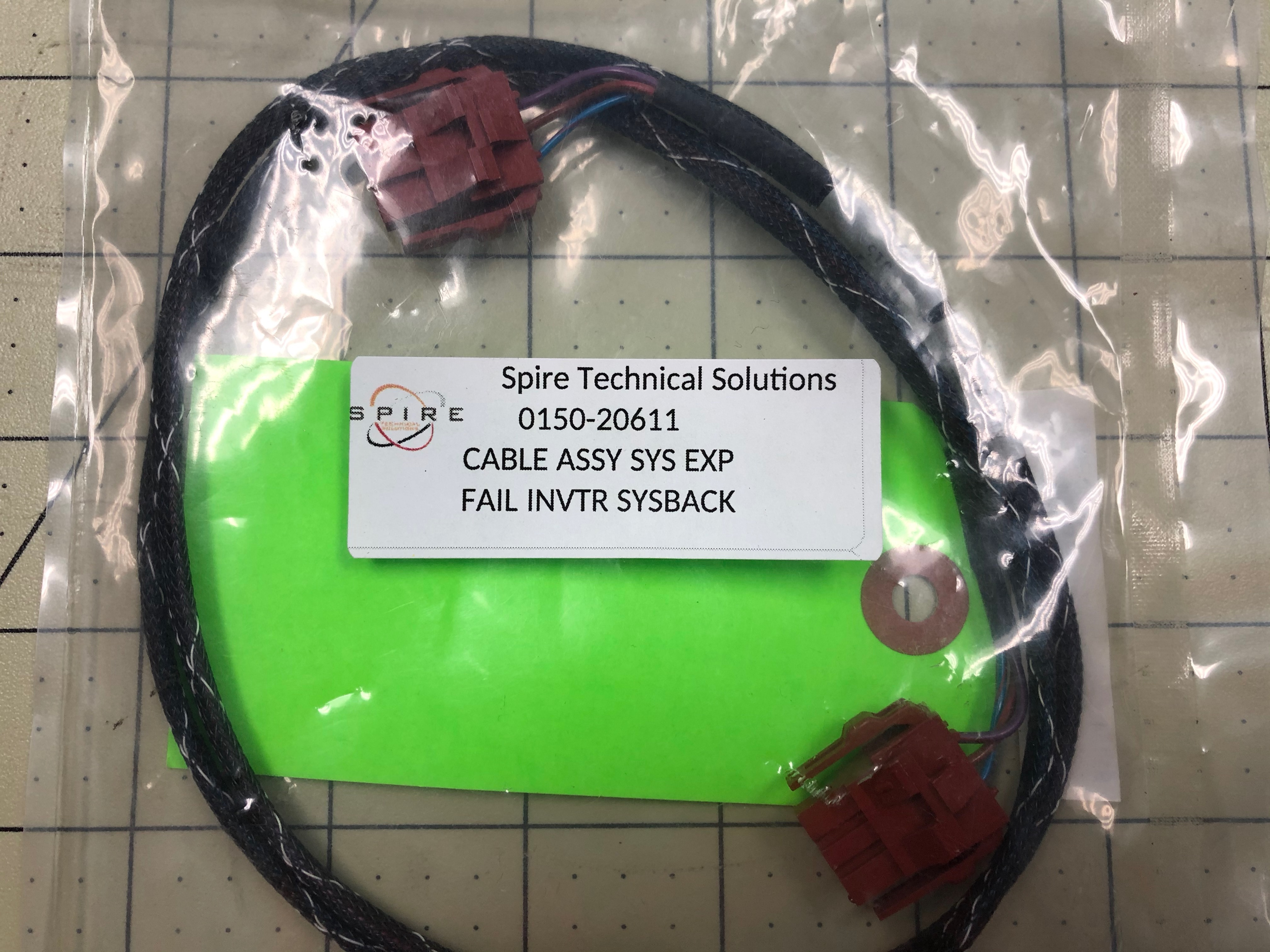 CABLE ASSY SYS EXP FAIL INVTR SYSBACK