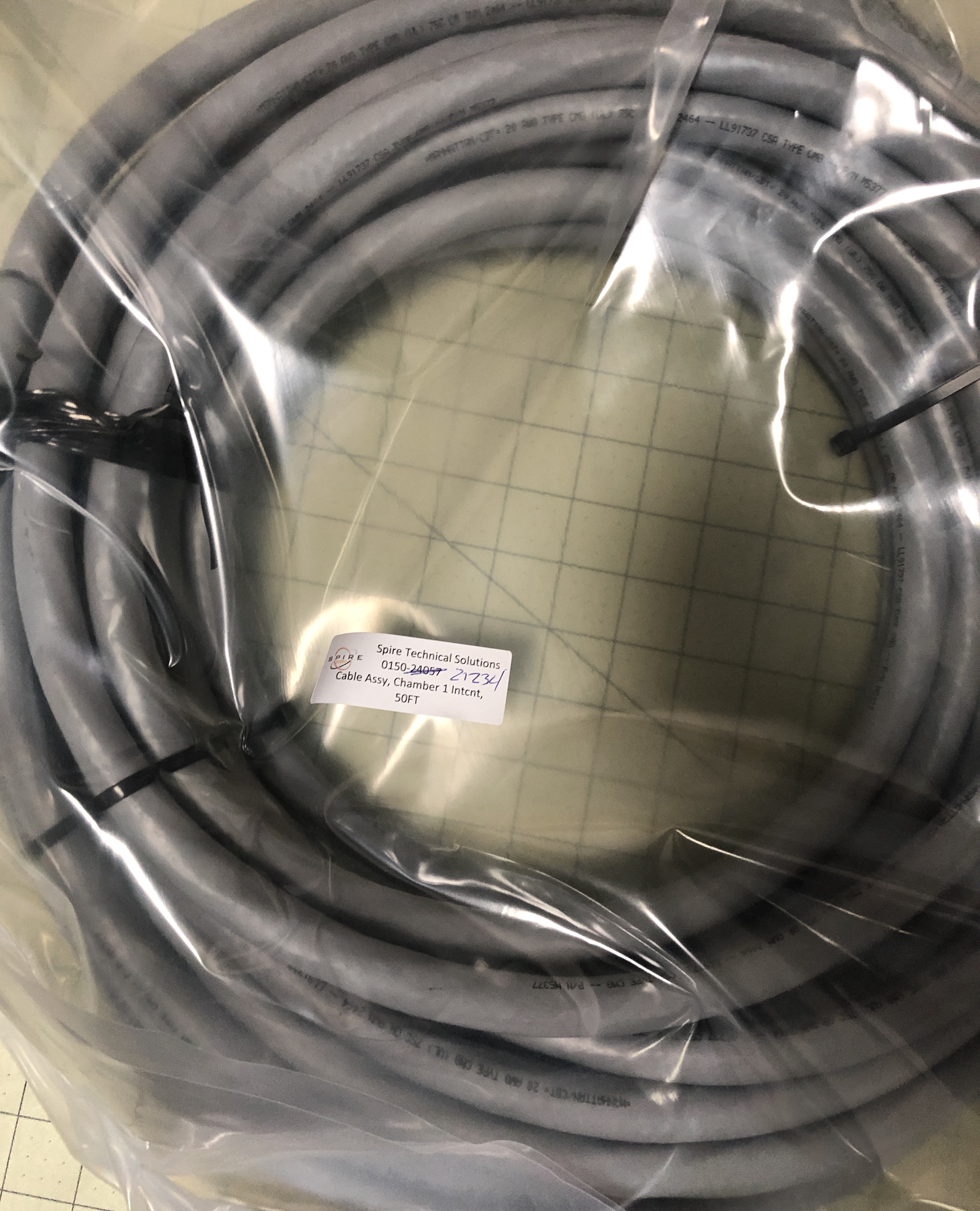 Cable Assy, Chamber 1 Intcnt, 50FT