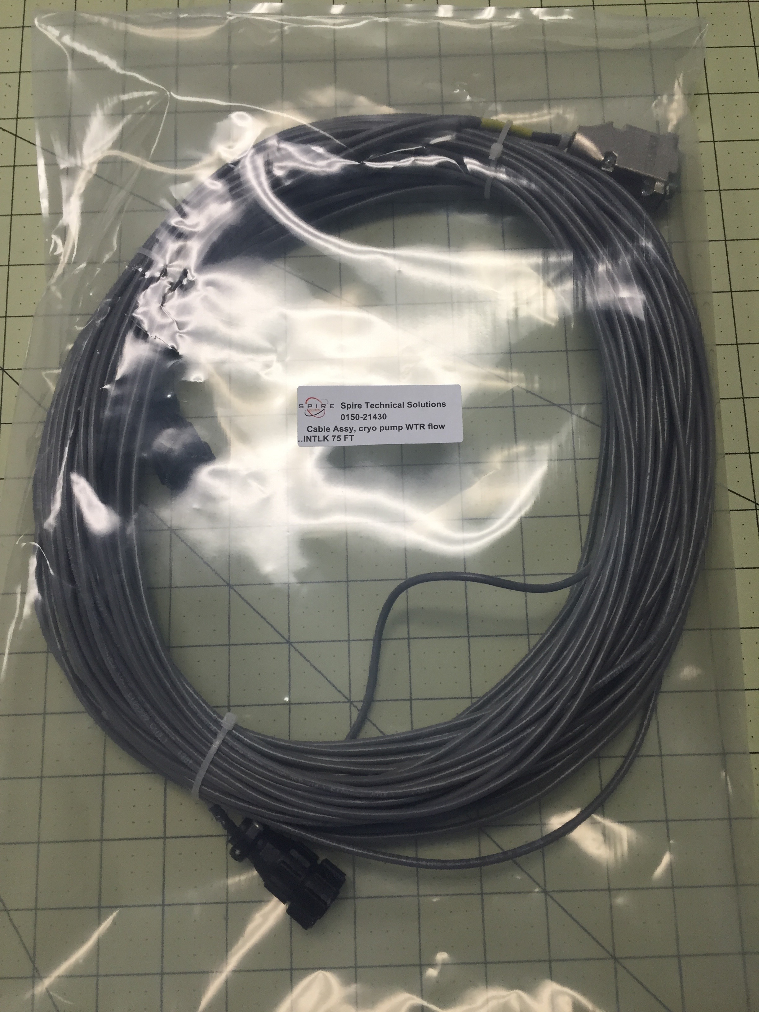 Cable Assy, cryo pump WTR flow
