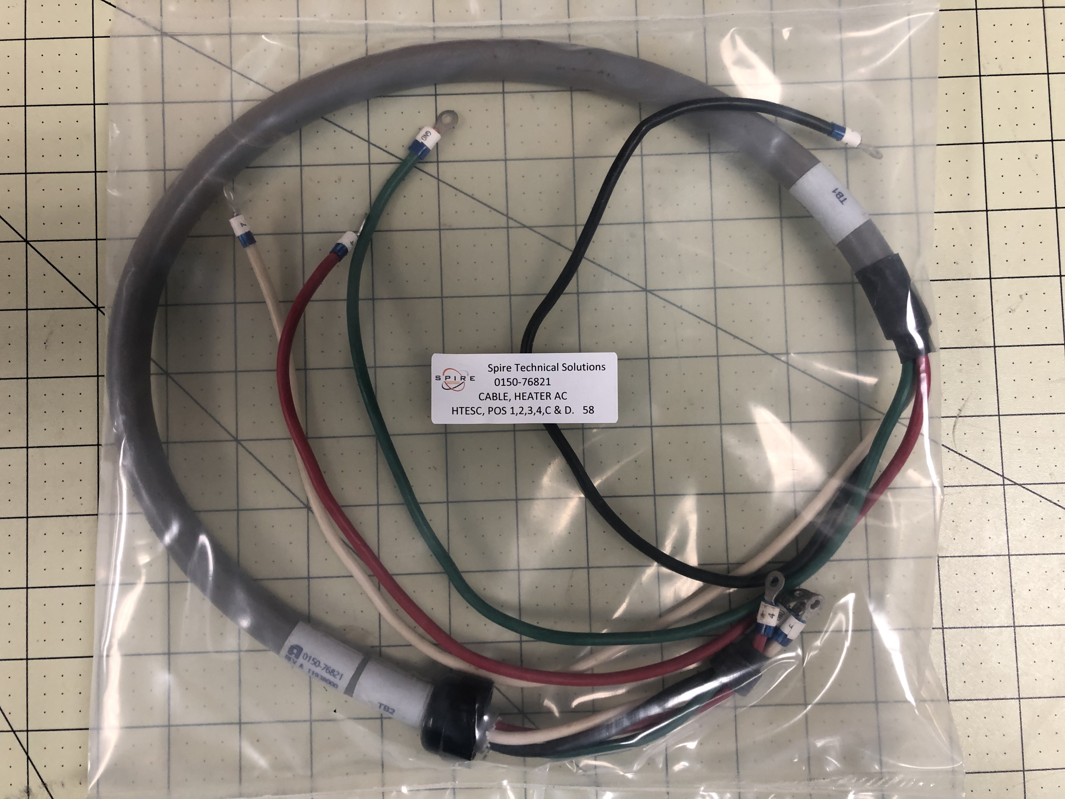 CABLE, HEATER AC, HTESC, POS 1, 2 3,4,C & D
