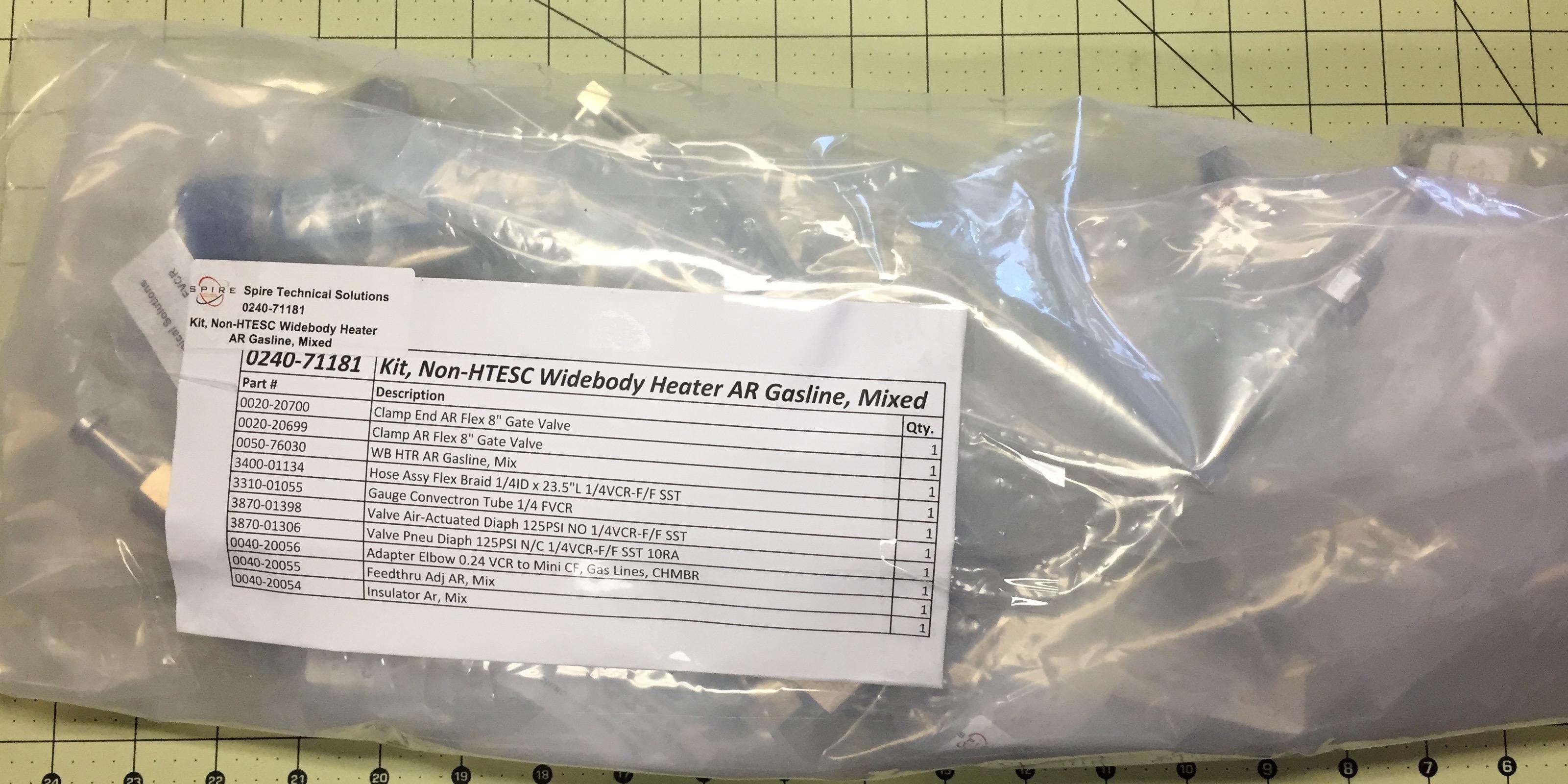 Kit, Non-HTESC WB Heater AR Gasline, Mixed