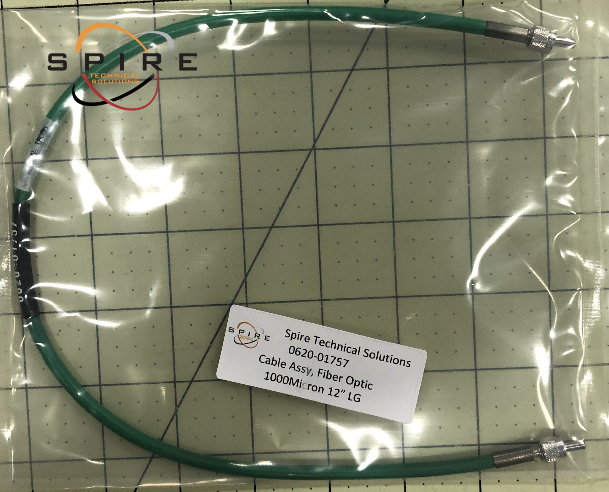 "Cable Assy, Fiber Optic 1000Micron 12"" LG"