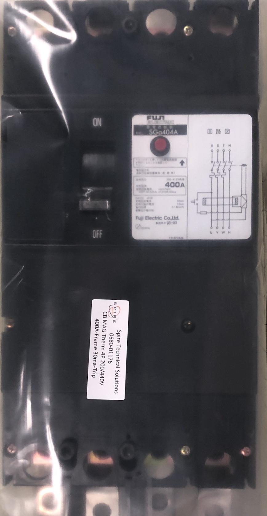 CB MAG Therm 4P 200/440V 400A-Frame 30ma-Trip
