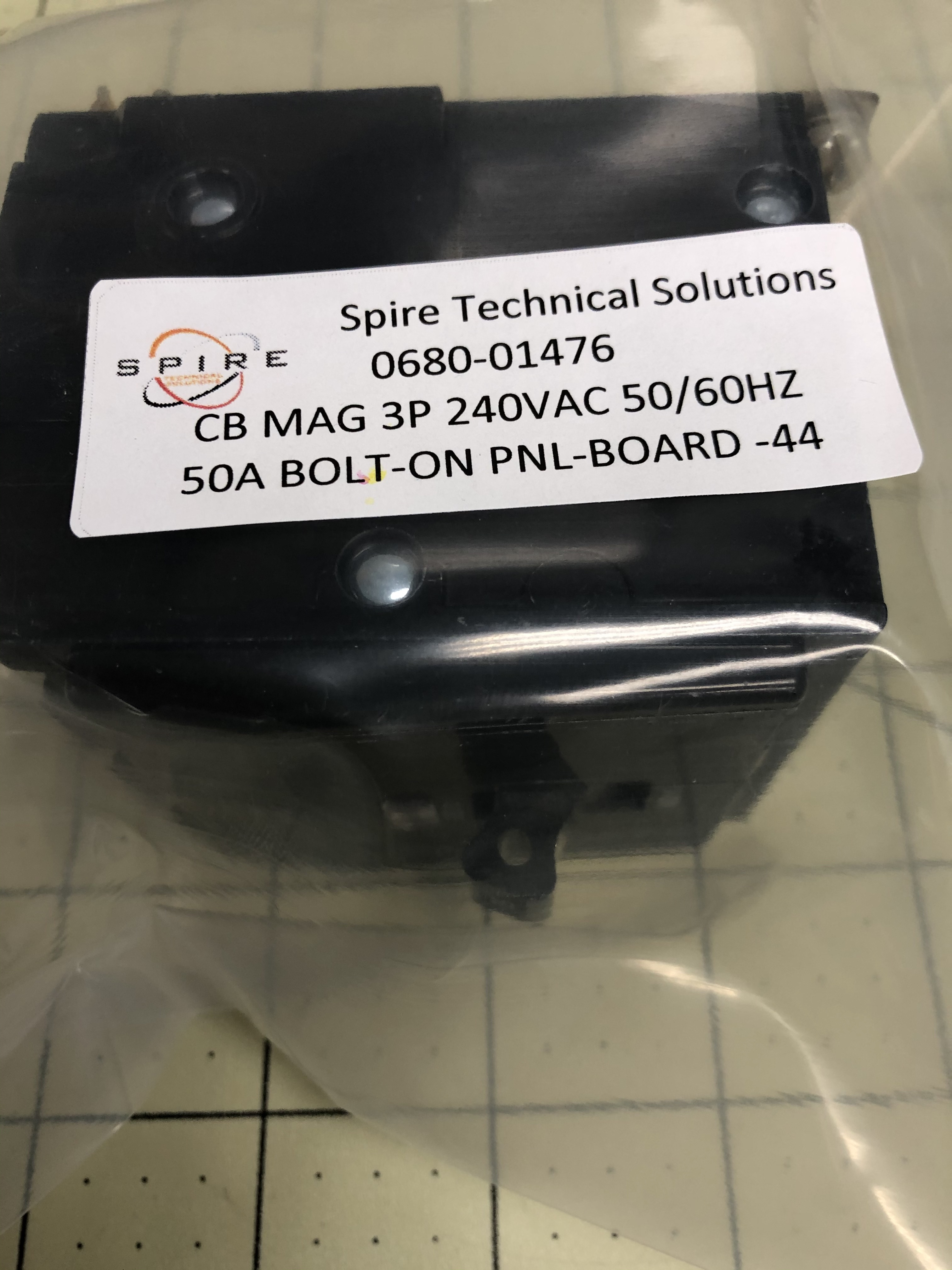 CB MAG 3P 240VAC 50A 50/60HZ BOLT-ON PNL-BOARD