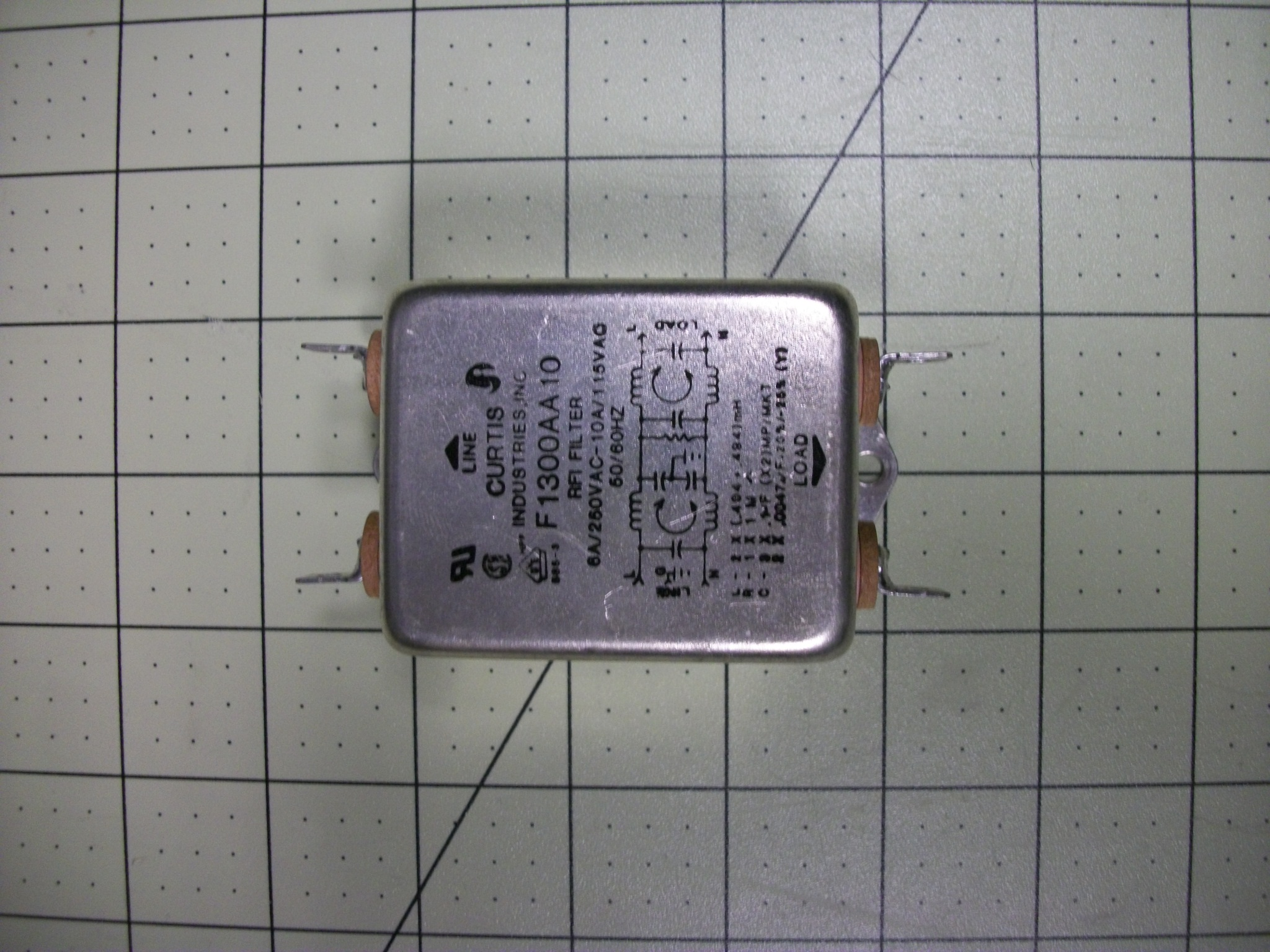 FLTR RFI 120VAC 10AMP QC/QC TERM