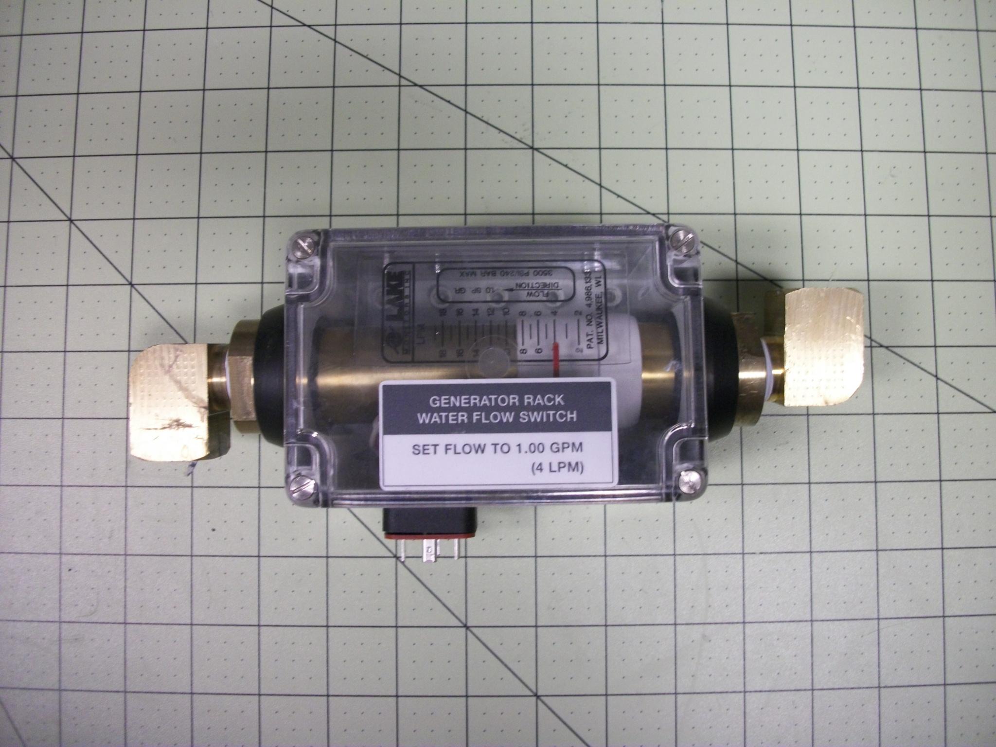 SW flow alarm water 1/2 NPTF 3500PSI 0.5–5GPM BRS