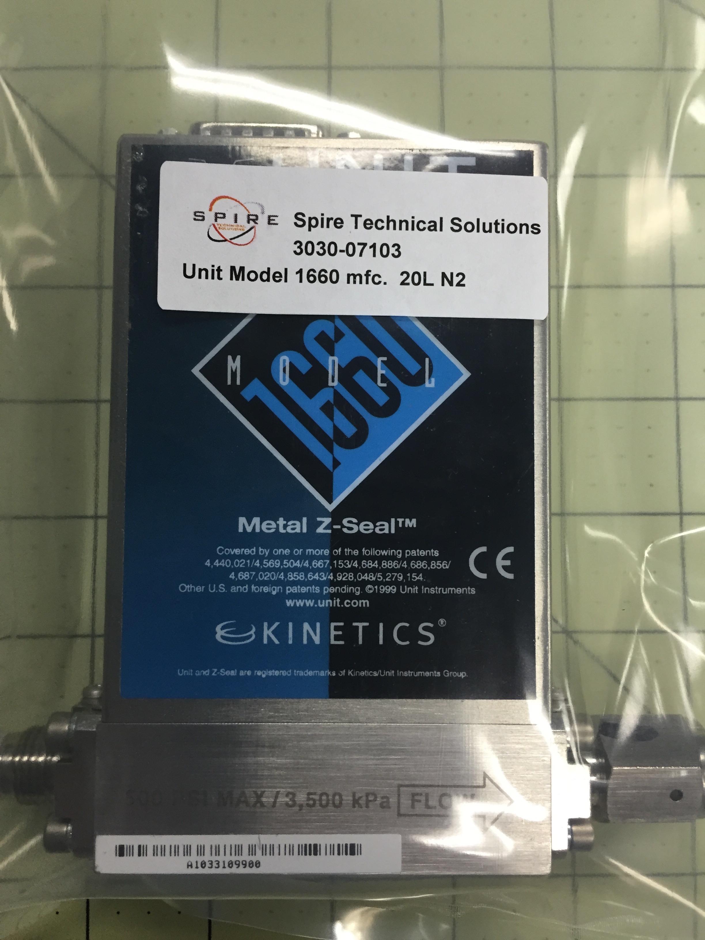 Unit Model 1660 mfc.  20L N2
