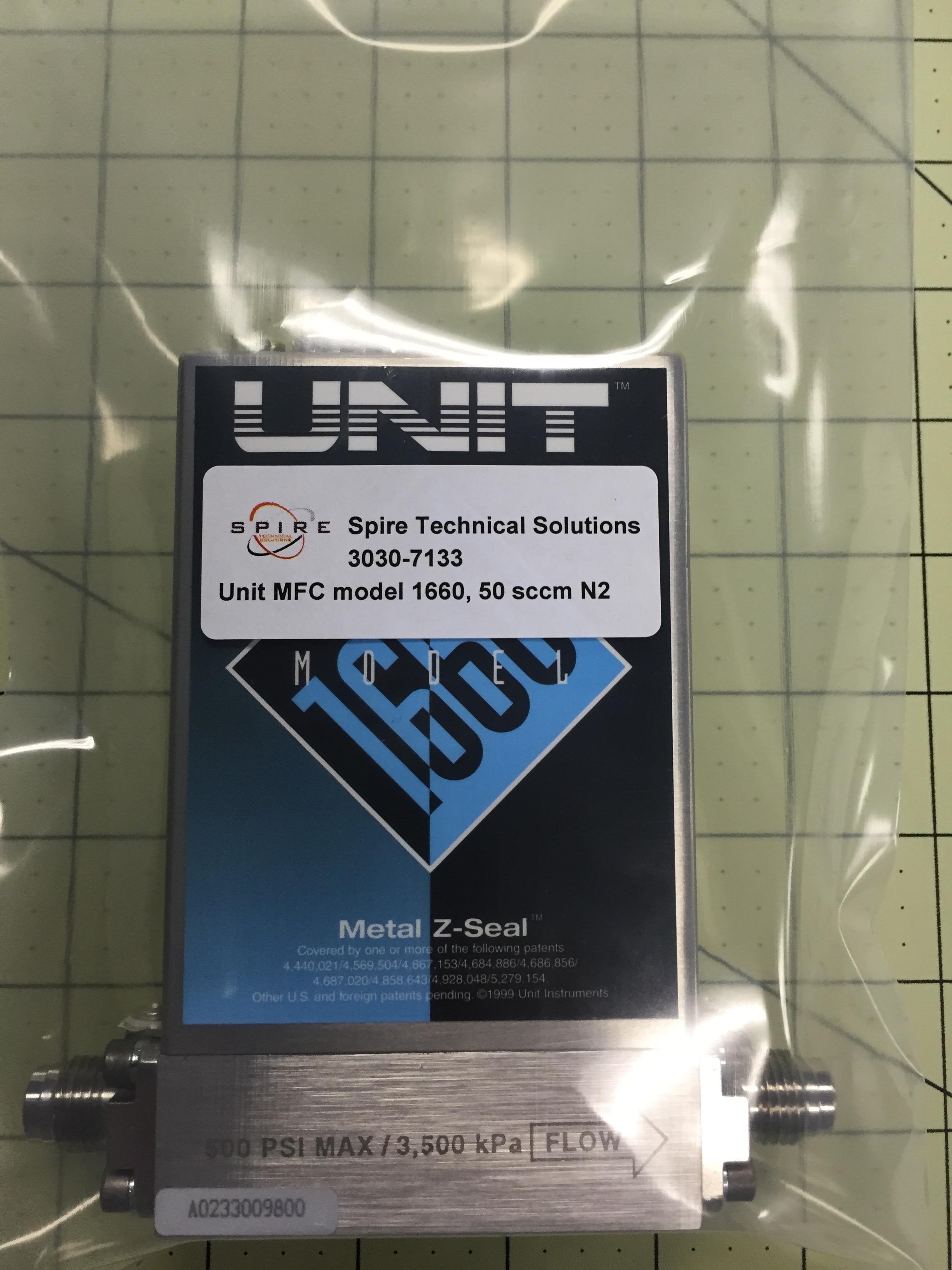 Unit MFC model 1660, 50 sccm N2