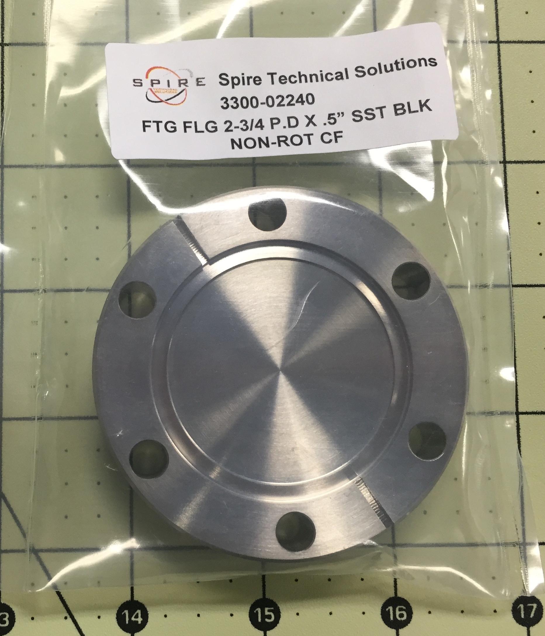 """FTG FLG 2-3/4 P.D X .5"""" SST BLK NON-ROT CF"""