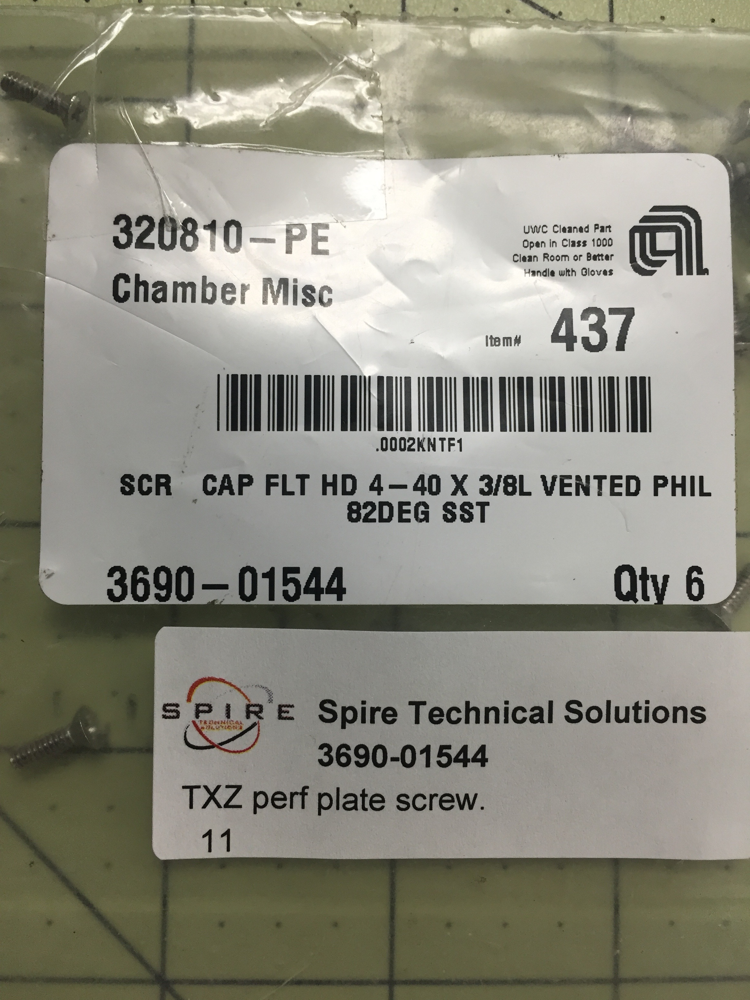 TXZ perf plate screw