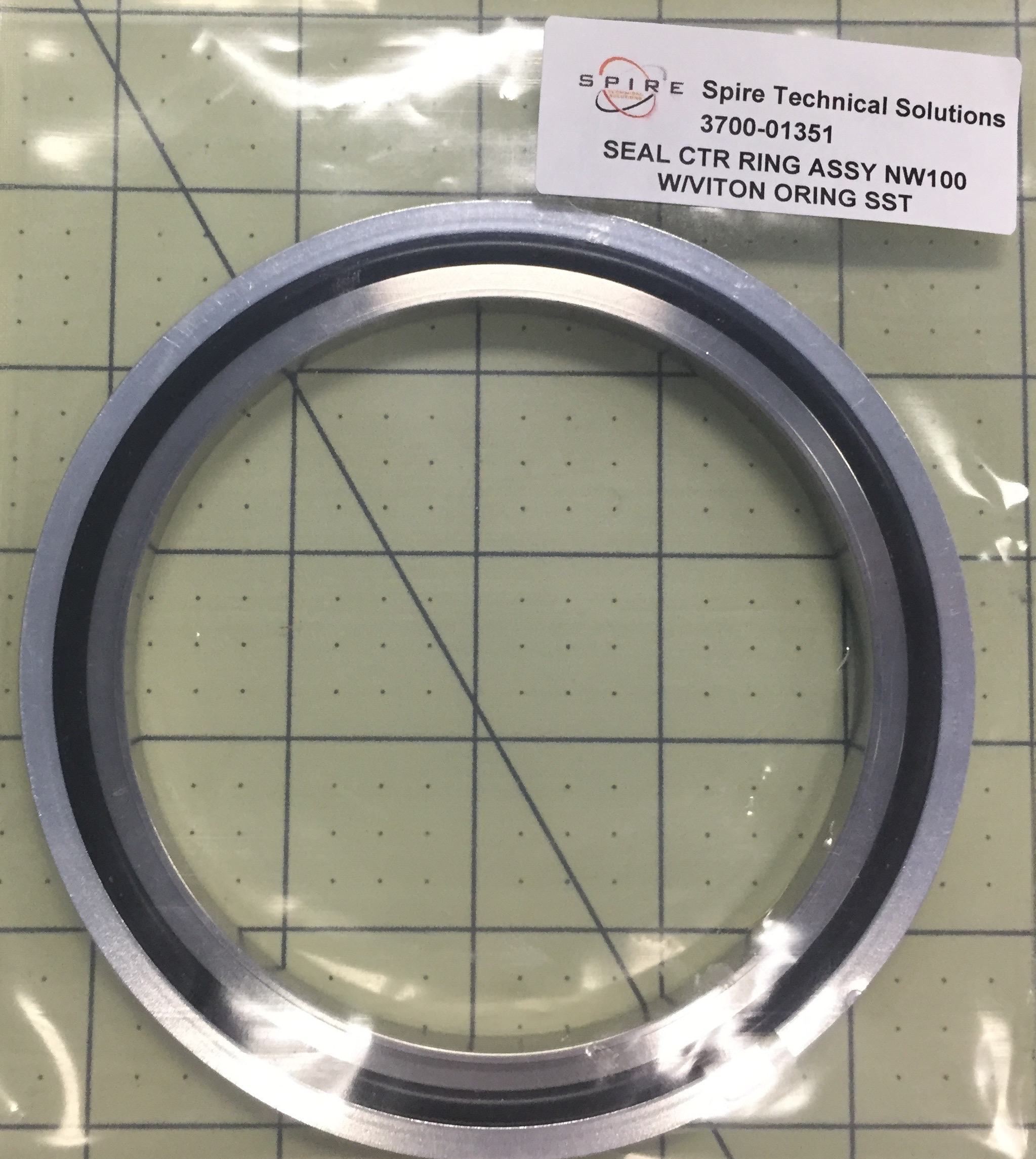 SEAL CTR RING ASSY NW100 W/VITON ORING SST