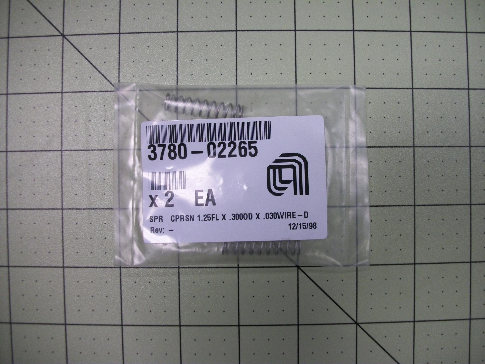 SPR CPRSN 1.25FL X .300OD X .030wire–D