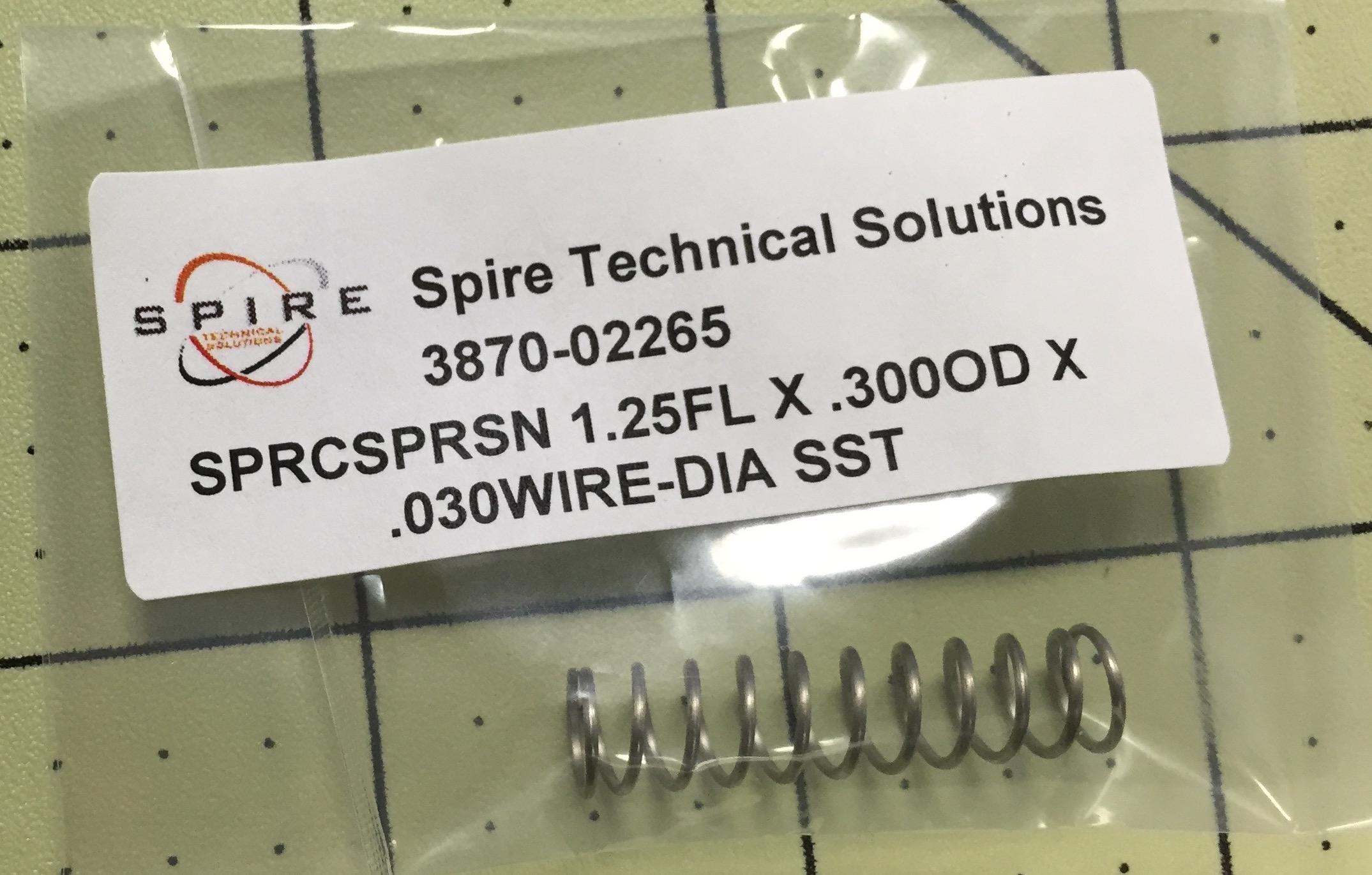 SPRCSPRSN 1.25FL X .300OD X .030WIRE-DIA SST