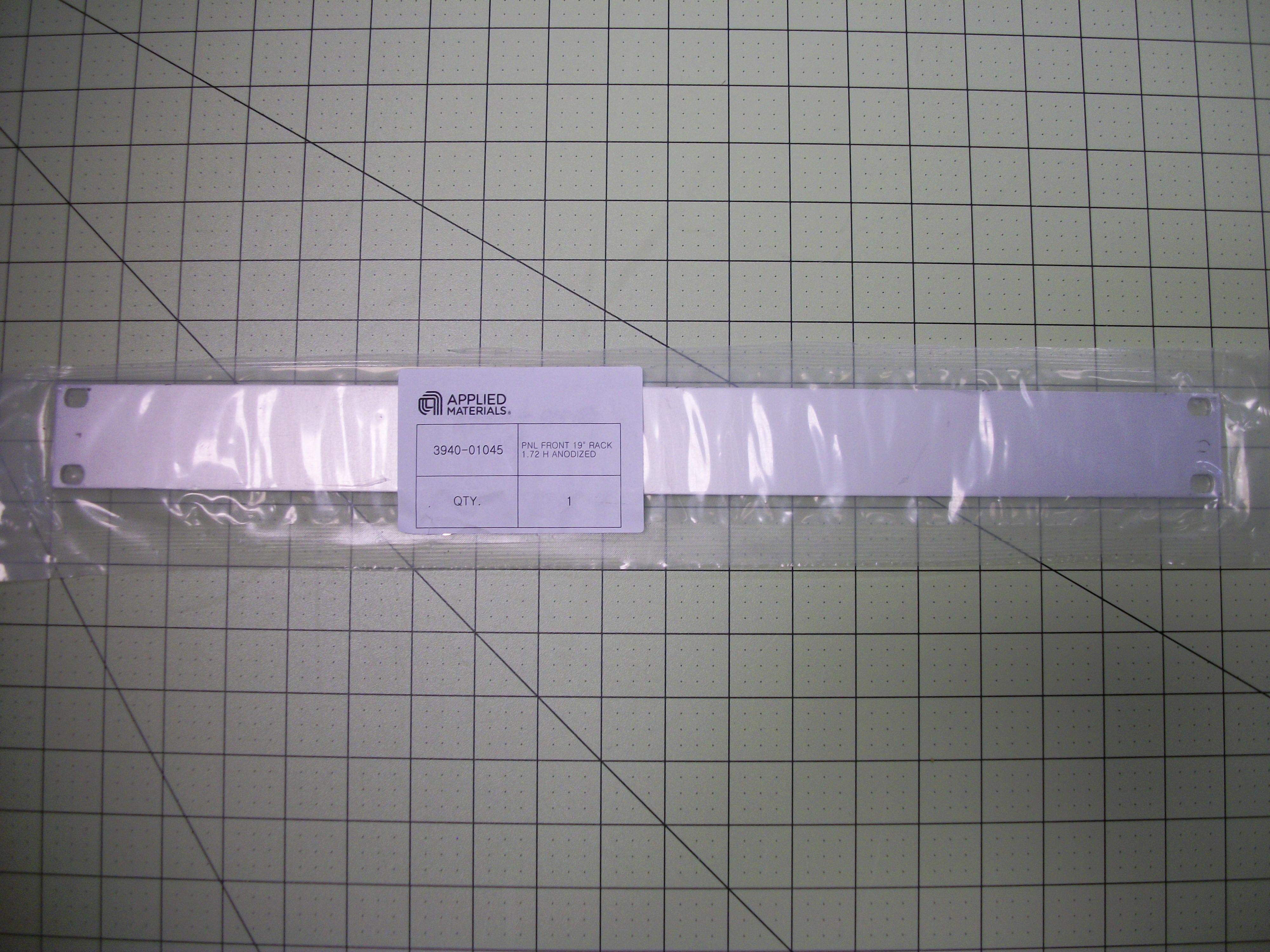"""PNL front 19"""" rack 1.72 H ANOD"""
