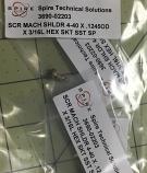 SCR MACH SHLDR 4-40 X .1245OD X 3/16L HEX SKT SST SP